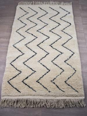 tapis berbere beni ouarain blanc jolie
