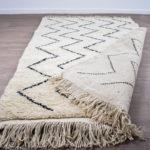 tapis berbere beni ouarain dos blanc