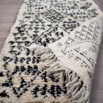 tapis berbere beni ouarain point noir dos