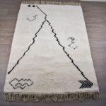 tapis berbere beni ouarain blanc design