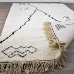 tapis berbere beni ouarain matiere jolie dos
