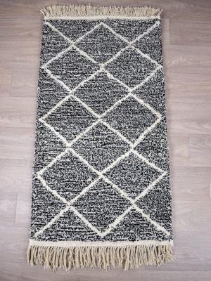 tapis berbere beni ouarain blanc et noir
