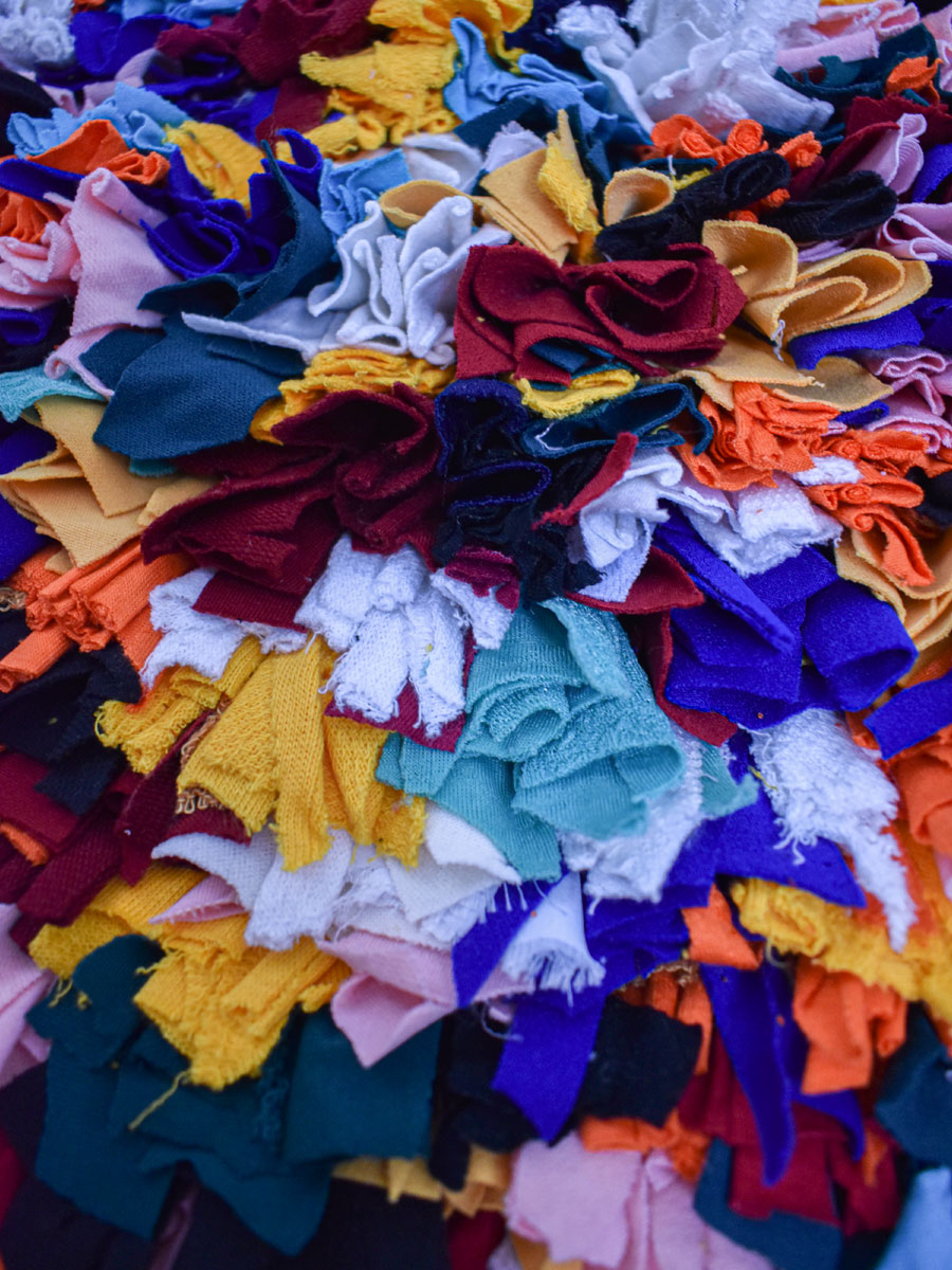 Tapis – Boucherouite Multicolore – 135 x 80 cm