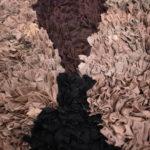Tapis berbère Boucherouite Marron Noir