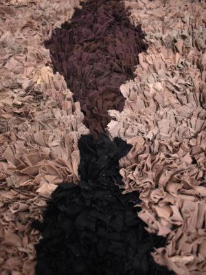 Tapis berbère Boucherouite Marron Noir 02