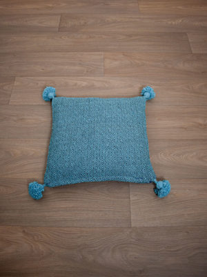 coussin berbere bleu turquoise