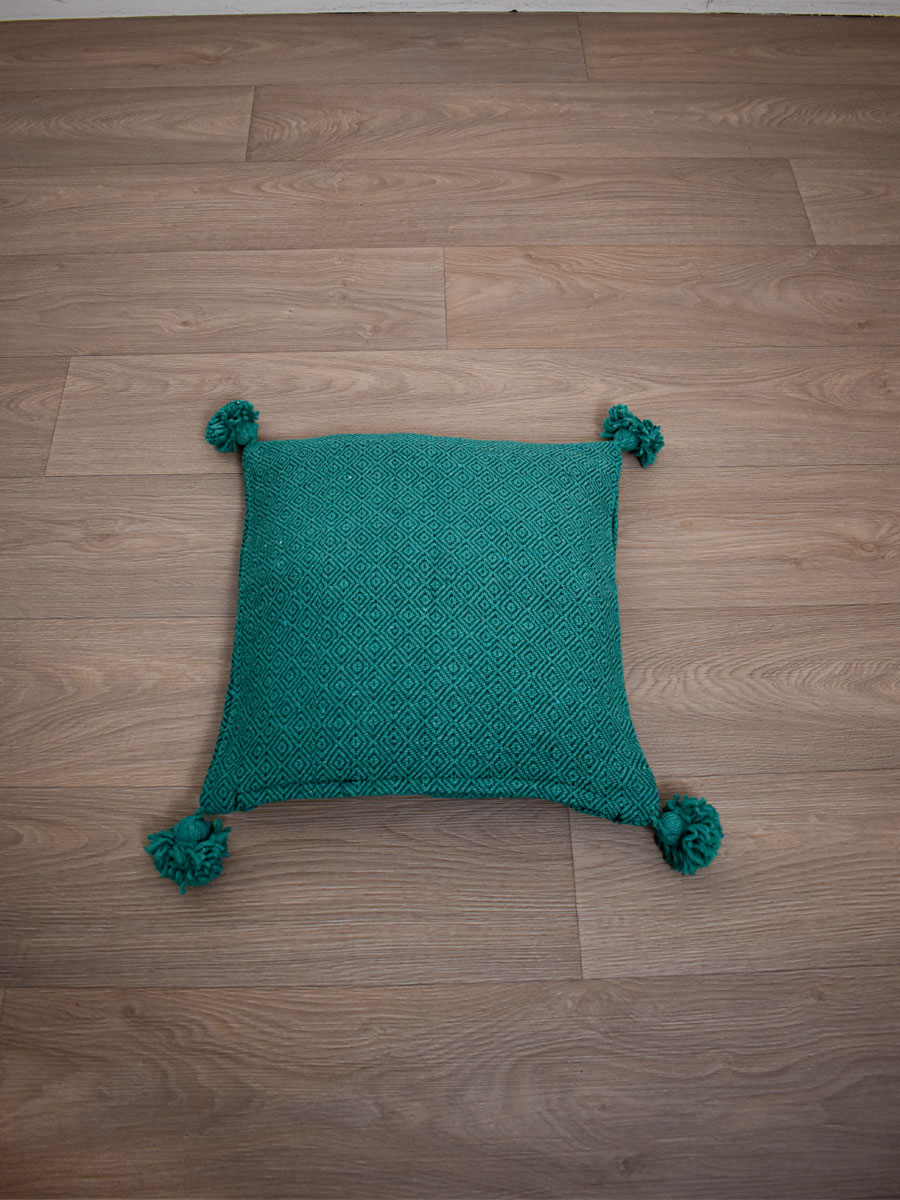 coussin berbere vert
