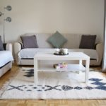 tapis berbere beni ouarain blanc noir Gris