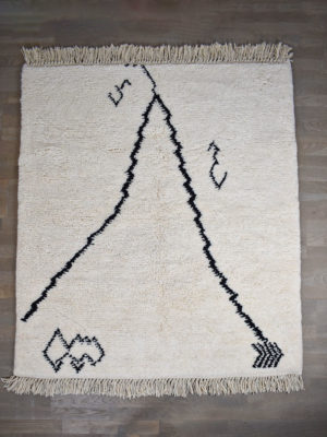 tapis berbere beni ouarain blanc