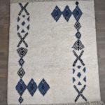 tapis berbere beni ouarain motif bleu