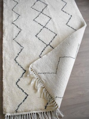 tapis berbere beni ouarain Zigzag avec Losange au milieu