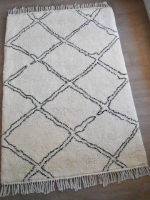 tapis berbere beni ouarain motif losange double